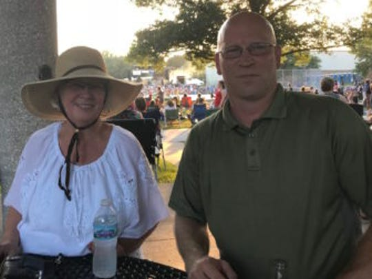 Mindy Allen and Denton Williams at the Coralville July 4th Fest.