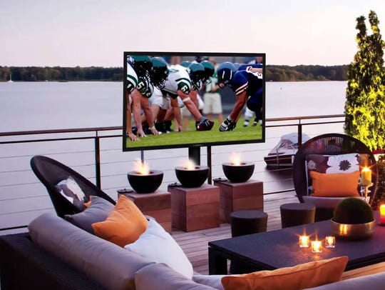 The SunBrite 65-inch outdoor TV.