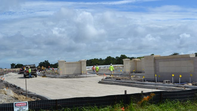Crews work on the first phase of the Cape Canaveral National Cemetery