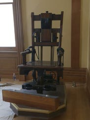 The electric chair will be one of the exhibits in the