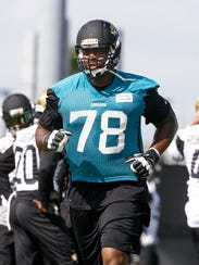 JACKSONVILLE, FL - MAY 27: Tackle Jermey Parnell #78