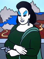 Drag personality Divine as Mona Lisa, by Trevor Wayne.
