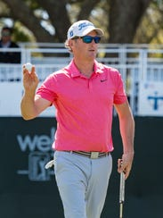 Broussard's Brian Rowell made the cut at 4-under at the Louisiana Open at Le Triomphe.