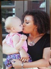 Richmond High School senior Destiny Smith with her 23-month-old daughter Braelynn.
