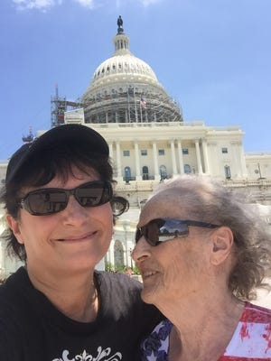 FLORIDA TODAY journalist Britt Kennerly took her mother, Helen Louise Barnes Harney, on a trip to Washington, D.C., in 2016, just two months after Helen was diagnosed with vascular dementia. Helen died a day before Mother's Day 2018.