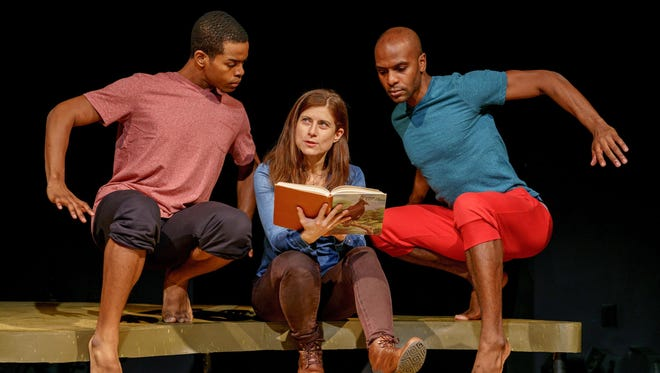 """Jeremiah Porter, Lena Kaminsky and Jeremy Swift star in """"Birds of East Africa"""" at the Kitchen Theatre."""