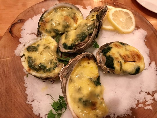 Oysters Rockefeller at The Oyster Society
