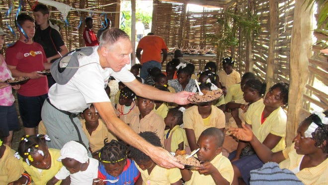 Tim Muth during a mission trip to Haiti in 2014.