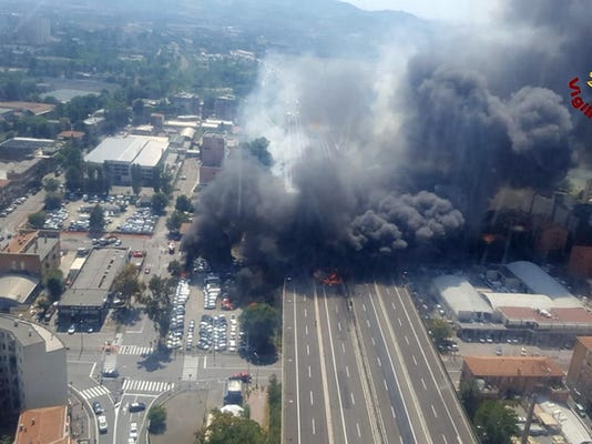 Italy Highway Explosion
