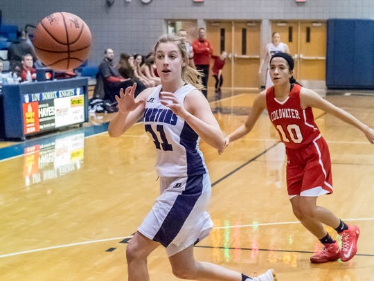 Lakeview's Ava Cook (11) takes the inbound pass during