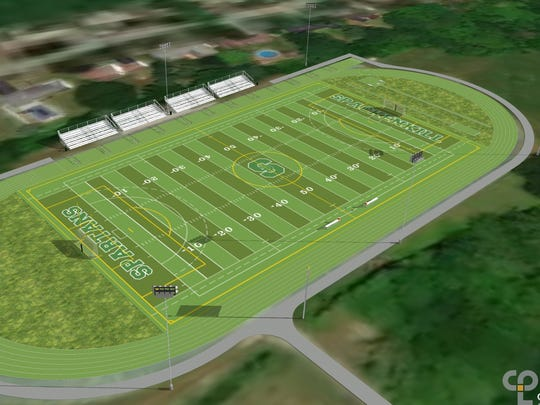 An architectural illustration of Spackenkill's proposed track