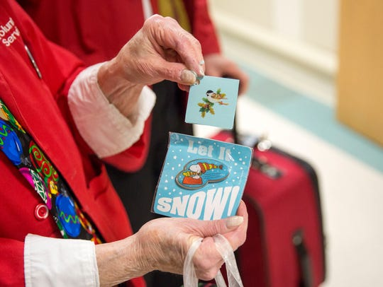The gifts that the couple gave to hospital patients