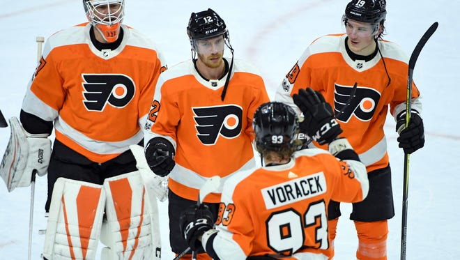 The Flyers have won five straight, in part because they've played steadily late in the third period.