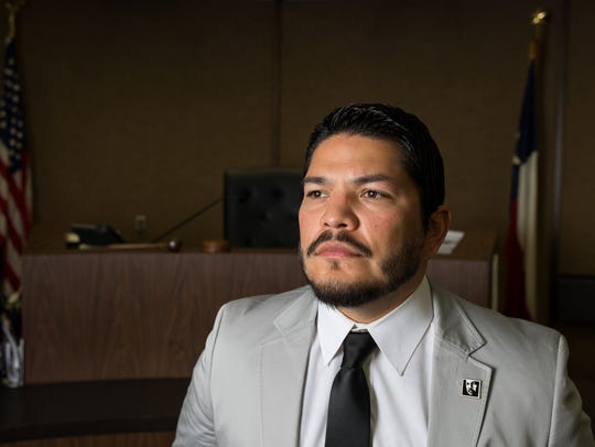 Nueces County District Attorney Mark Gonzalez poses