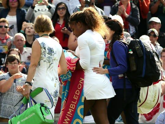 Serena leaves 7-1-14