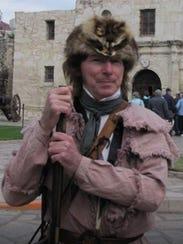 Al Bouler dressed as Davy Crockett during a 2017 trip
