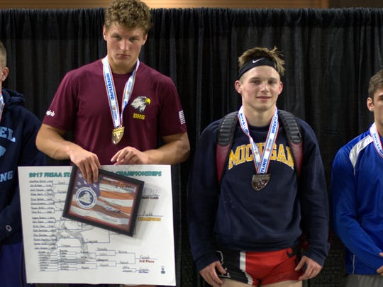 Leon senior wrestler J.T. Grant captured state runner-up at 182 pounds in 2A on Saturday.
