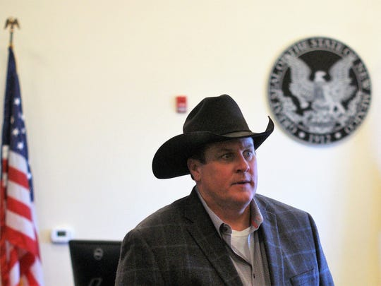 Scott Chandler, owner of the Tierra Blanca Ranch, appeared at the Sixth Judicial District Court in Deming in June of last year.