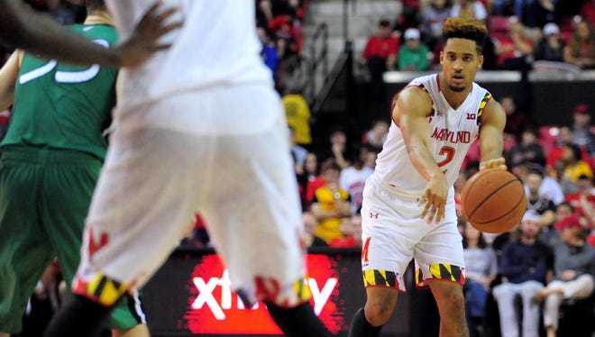 Maryland Terrapins guard Melo Trimble.