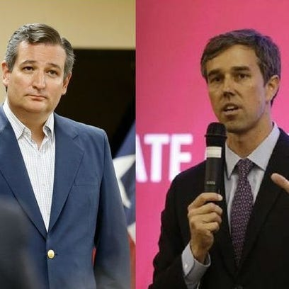 U.S. Sen Ted Cruz, left, and U.S. Rep. Beto O'Rourke