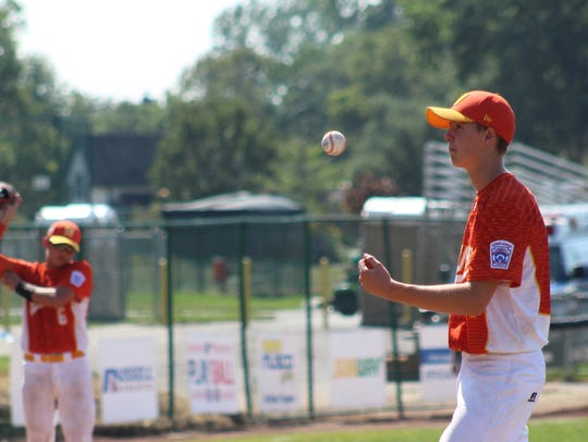 Wylie Little League Junior All-Stars pitcher Reed Hughes