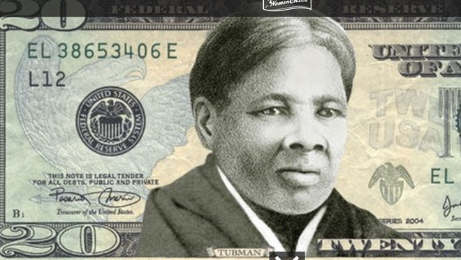 More than a million people voted to put a woman on the $20 bill. The winner - Harriet Tubman.