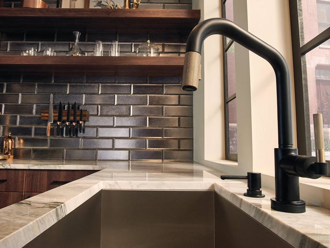 The Litze kitchen collection by Brizo includes a handsome