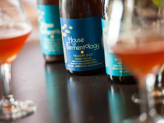 Some of the House of Fermentology's sour beers seen