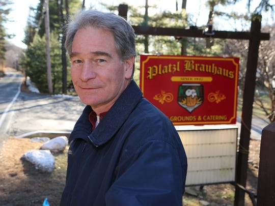 Stephen Kahrs, president of the Platzl Brauhaus in Haverstraw, is pictured in front of the business Jan. 6, 2016. The longtime establishment has closed its doors.