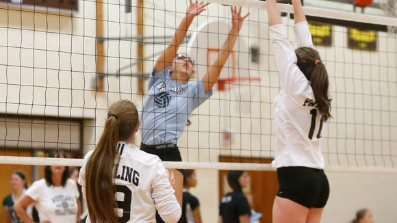 Westlake takes on Pawling at the Vikings Volleyball Tournament at Clarkstown South High School in West Nyack on Saturday, September 24, 2016.