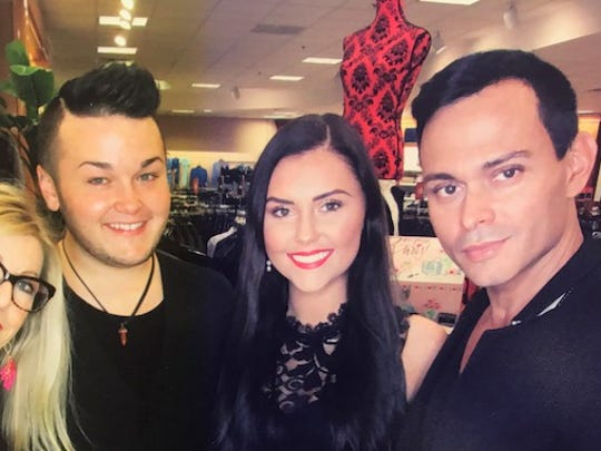 National Makeup Artist Alex Sanchez was in town working with the Evansville Lancome Team doing Luxe Makeovers. Posing from left Linda Montejano, Billy Thorn, Katie Richmond and Alex Sanchez.
