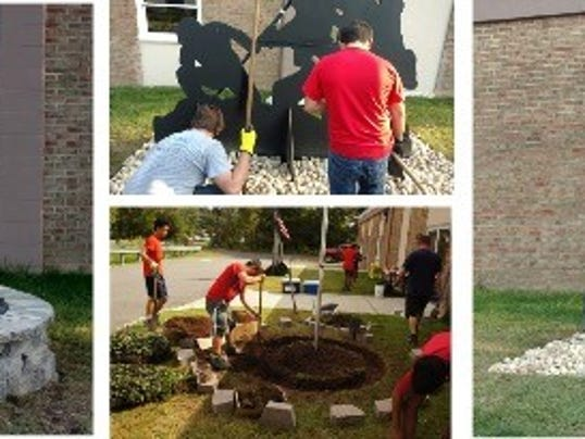 Boy Scout honors veterans with Eagle project PHOTO CAPTION