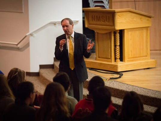 Tom Udall at NMSU Student Leadership Institute