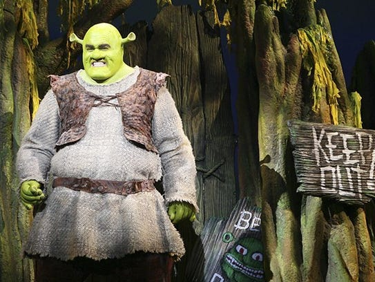 "Brian d'Arcy James in ""Shrek the Musical."""
