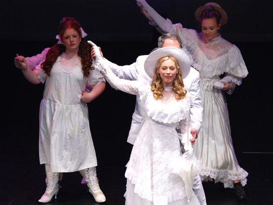 """Cast members rehearse a scene for the Off Broad Street Players' production of """"Ragtime."""""""