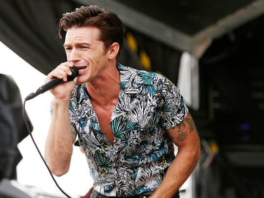 "Drake Bell performs in 2017 in Lafayette, Ind., as part of the High School Nation tour. The onetime co-star of the Nickelodeon hit ""Drake & Josh"" now has a solo act, and he'll visit Milwaukee Jan. 17."