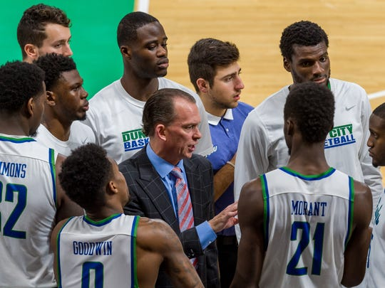 FGCU coach Joe Dooley and the Eagles look to run their winning streak to seven straight against very familiar foe Georgia Southern at home on Tuesday night.