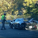 An exotic car crashed on McKinnon Street Wednesday morning.