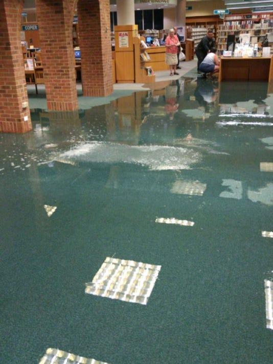 Bridgewater library Flood