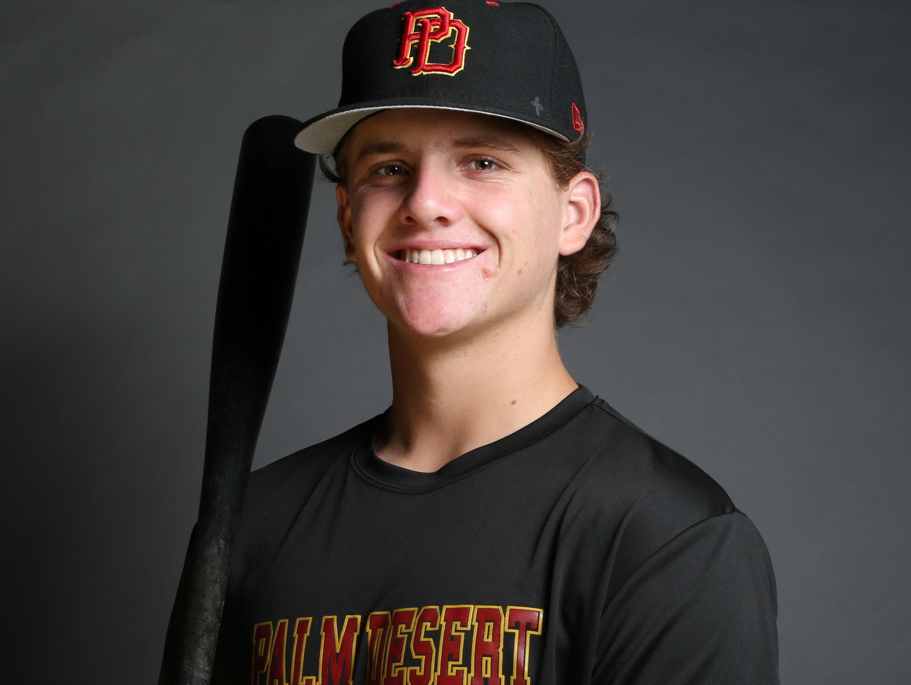 Travis Moniot of Palm Desert High School is the Desert Sun's top baseball player this season.