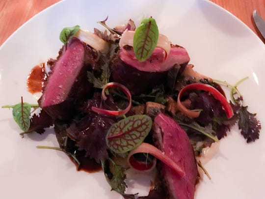 Hudson Valley Duck Breast ($32) with confit sunchokes