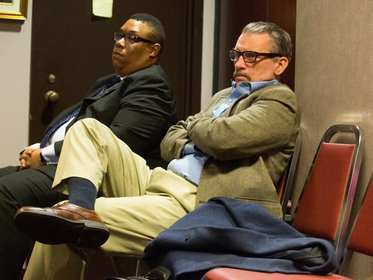 Patrick Jones, right, a Brandywine Hundred resident claims New Castle County Council President Karen Hartley-Nagle owes him $60,000 that she won't pay back.