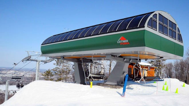 The new high-speed lift being installed at Granite Peak Ski Area in Rib Mountain will be similar to the Dasher lift pictured here.