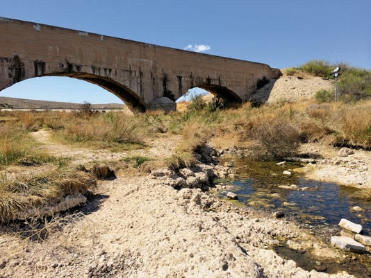 Dried up Pecos River