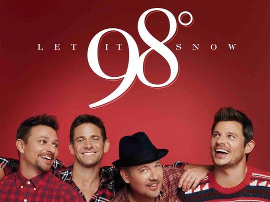 "98 Degrees' Christmas album, ""Let it Snow."""