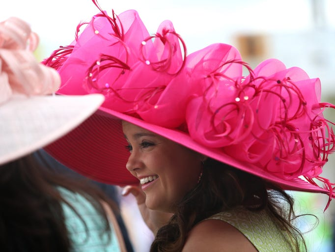 Chelsea Goodman in her Oaks Day hat. May 2, 2014