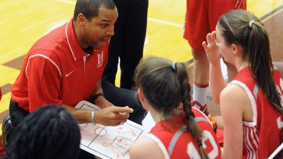 Hendersonville girls basketball coach Eric Gash.