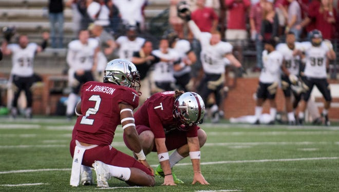 Troy kicker Jed Solomon's last-minute miss against Idaho is one of two missed field goals he's suffered this year. He had another blocked last weekend against Louisiana-Monroe.