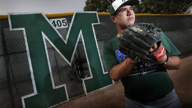 Montwood pitcher Eric Estrada has helped his team reach the 6A Regional Quarterfinals against Fossil Ridge with a 10-0 record on the mound.
