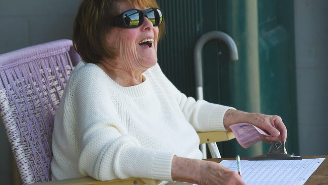Lenore Redolphy, 83-year-old Endicott resident, has been a decades-long fixture on Vestal High's athletic scene.